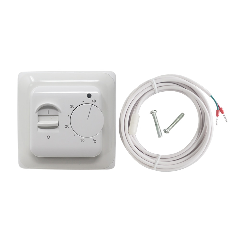 Mechanical Floor Heating Thermostat 16A AC 230V Electronic Heating Temperature Controller Retardant PCV Room Thermostat