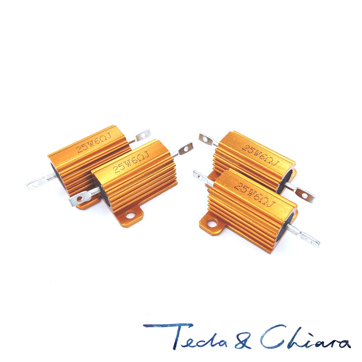 0.1r 0.1ohm 0.1 0.22r 0.22ohm 0.22 r ohm 25 w watt wirewound alumínio potência metal escudo caso resistência resistor rx24