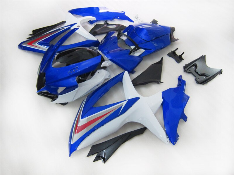 Custom Injection Fairing for Suzuki GSXR750 K8 2008 2009 2010 GSXR 600 GSXR600 08 09 10 black blue motorcycle body Fairings kit
