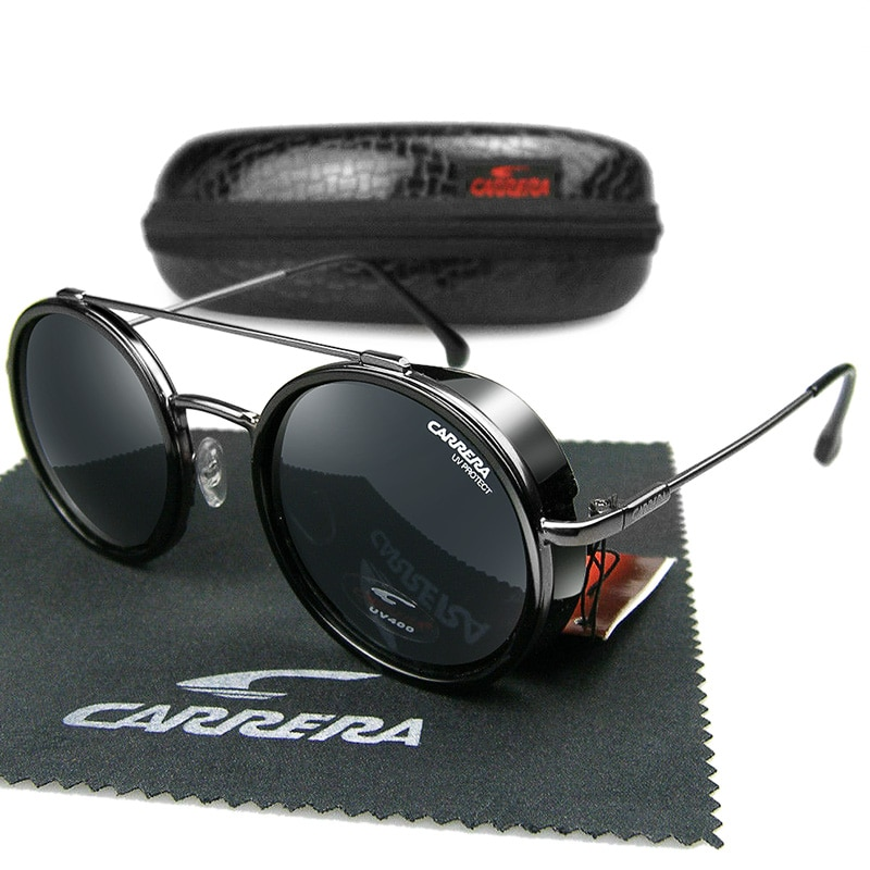 Classic Round Carrera Retro Sunglasses Men Women Brand Designer High Quality Vintage Metal Frame Dri