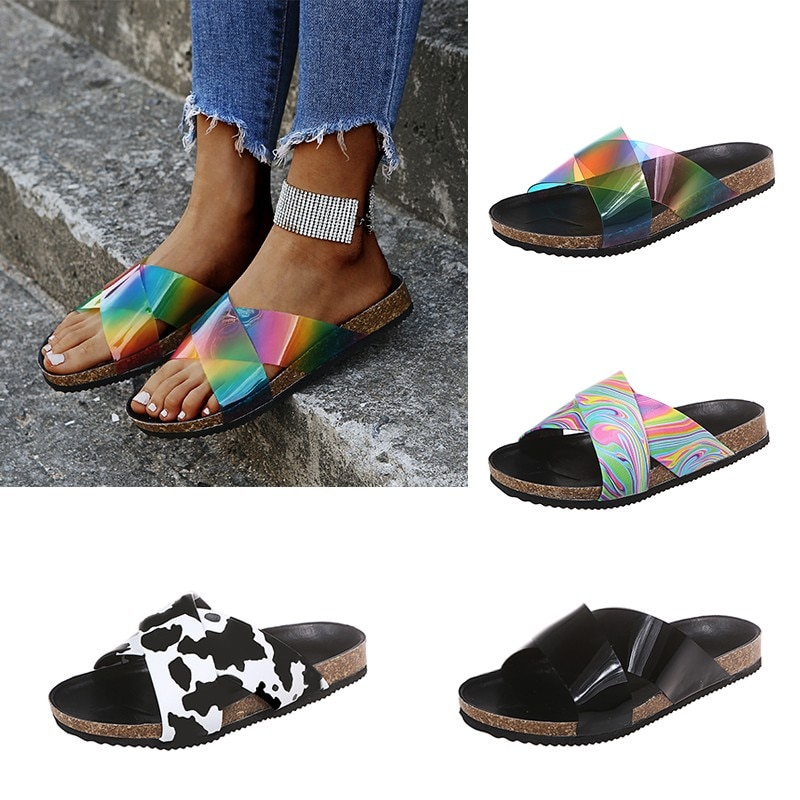 Women Slippers Summer Platform Shoes Wedges Outdoor Slides Vacation Beach Sandals Ladies Shoes Flat Female Shoes Slippers