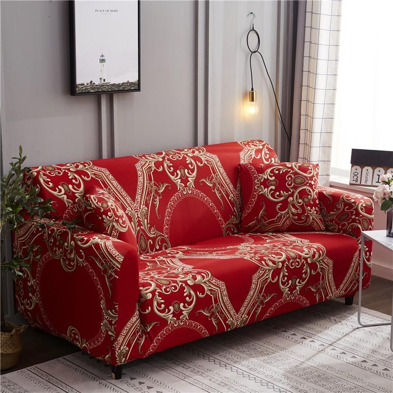 55 capa de sofá com tudo incluído anti-deslizamento capa de sofá de combinação de tecido de estilo europeu conjunto universal