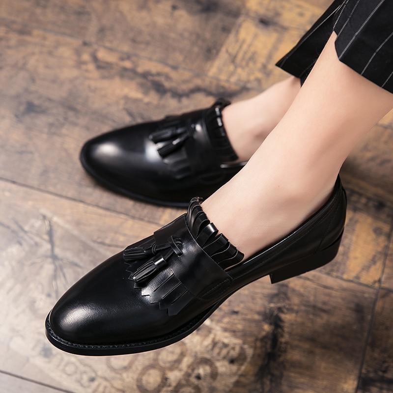 حذاء رجالي أحذية ربيع الخريف موضة الرجال الشقق الأخفاف الذكور الأحذية مريح الانزلاق على حذاء رجالي نادي حفلة الرجال حذاء كاجوال