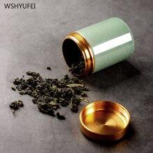 Boîtes de stockage de poudres de pilules   En métal, en céladon, petit Ganoderma, lucidum, thé, café, biscuit, bonbons, étanche à lhumidité