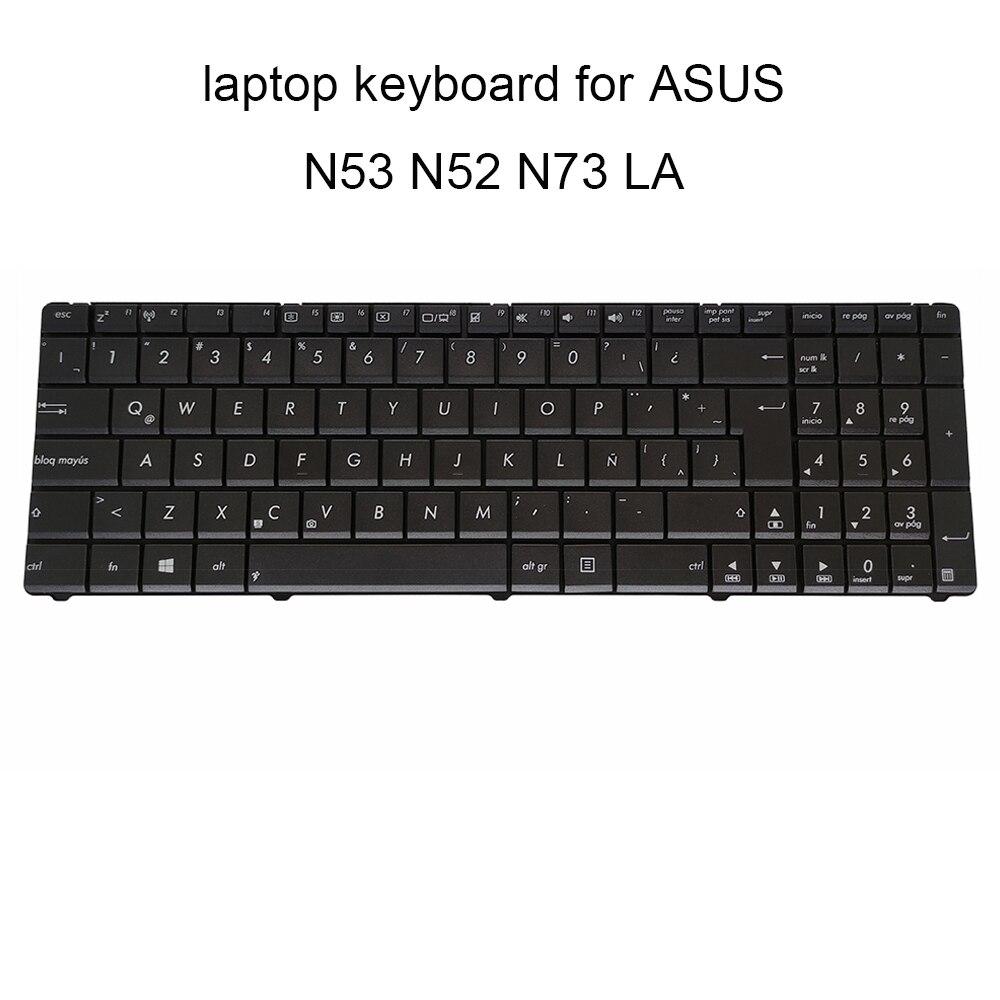 قطع غيار لوحات مفاتيح الكمبيوتر المحمول, لوحات مفاتيح بديلة لأجهزة الكمبيوتر المحمول ASUS N53 N53S N52 DA N52JV K72F LA لاتيني أسود قطع غيار لأجهزة الكمبيو...