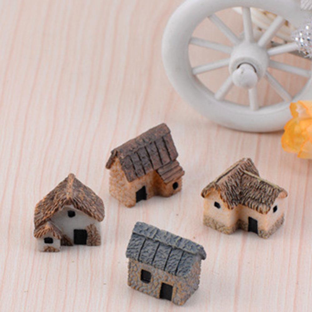 Mini decoración en miniatura para paisajismo Gadget resina adorno accesorio miniatura jardín casa al aire libre