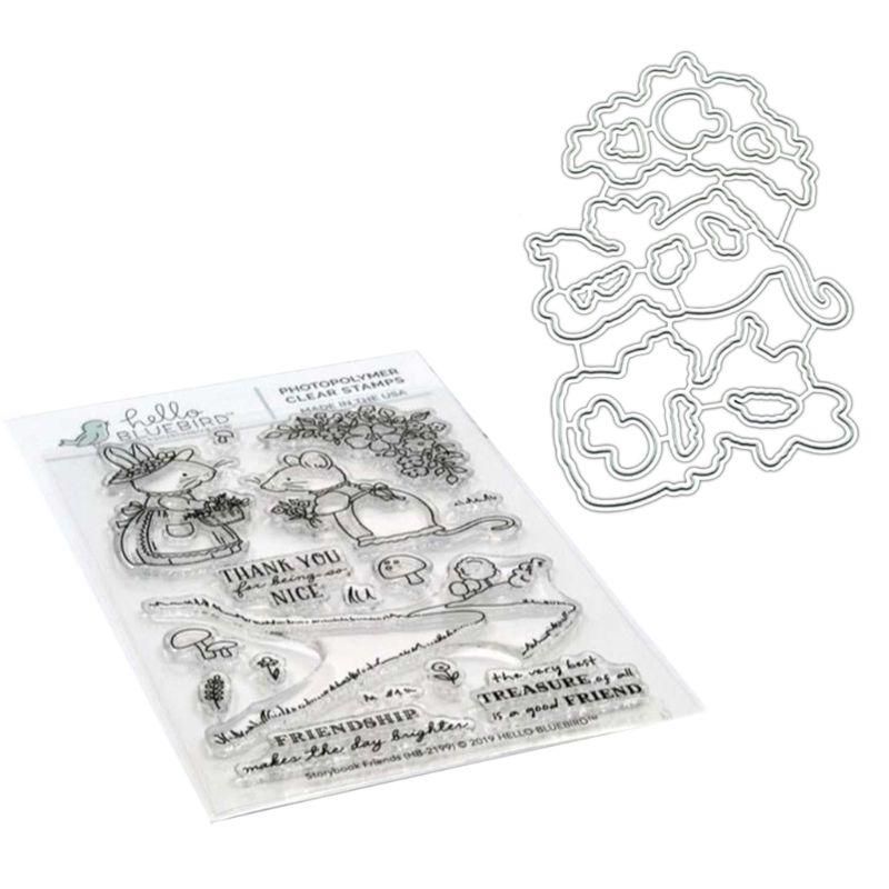 Plantillas de corte de Metal Mice para bricolaje álbum de recortes papel tarjeta en relieve 95AA
