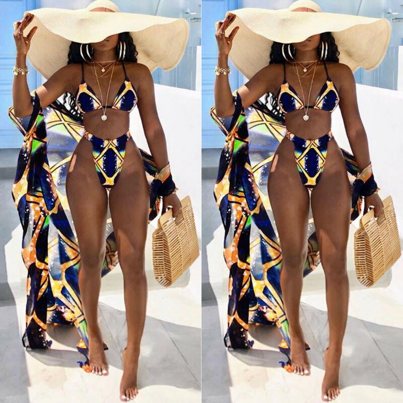 Women Triangle Bikini Sets Brazilian Thong low Waisted Solid Push up Female Sequins Swimsuit Bathingsuit Beachwear Holiday low waisted floral thong bikini