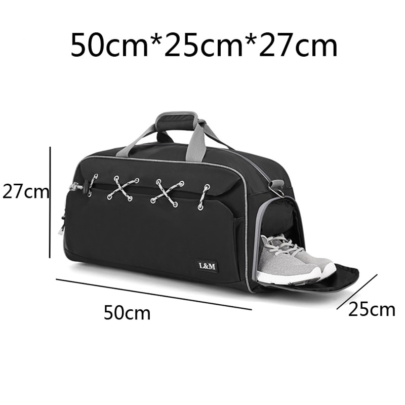 Sport Bag for Fitness Men Training Gym Bag Women Shoulder Handbag Yoga Shoes Bags Travel Dry Wet Separation Outdoor Sport Bags