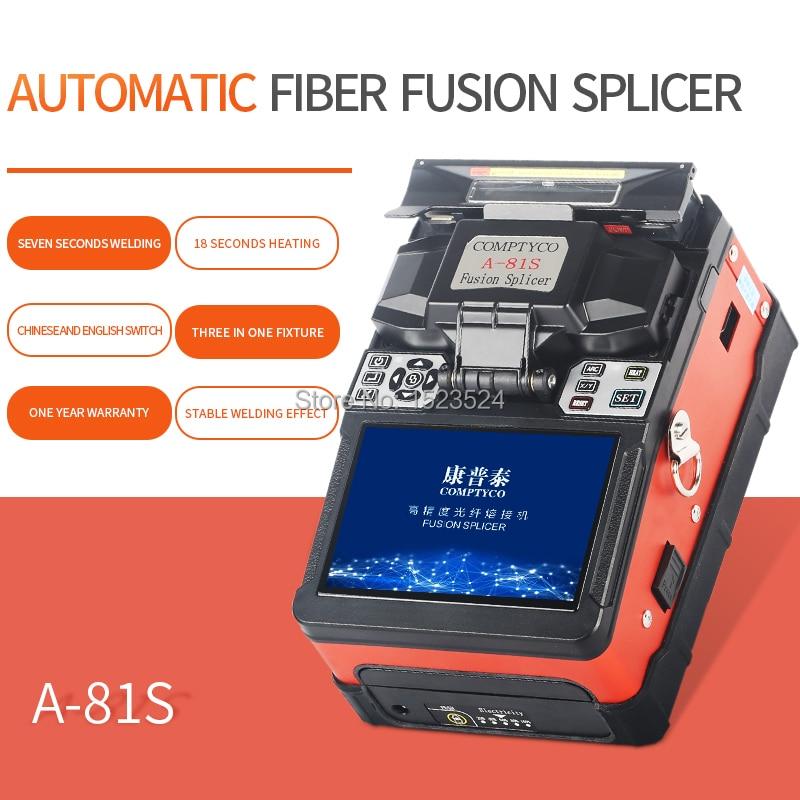 A-81S Orange Fully Automatic Fusion Splicer Machine Fiber Optic Fusion Splicer Fiber Optic Splicing Machine