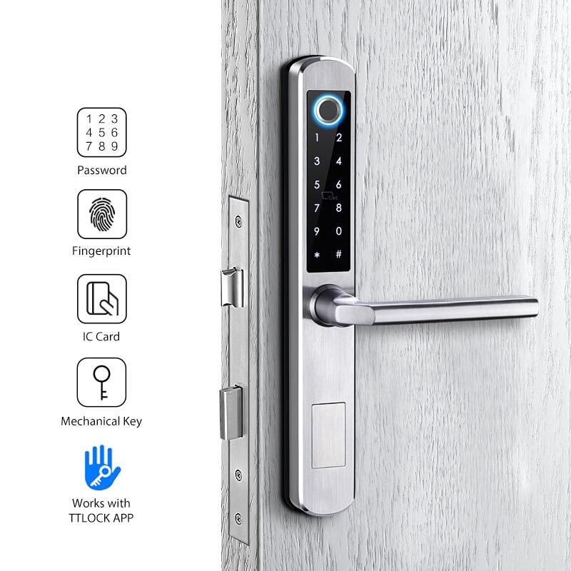 Double Side Smart Keyless Biometric Fingerprint Lock ttlock app waterproof digital lock for outdoor gate