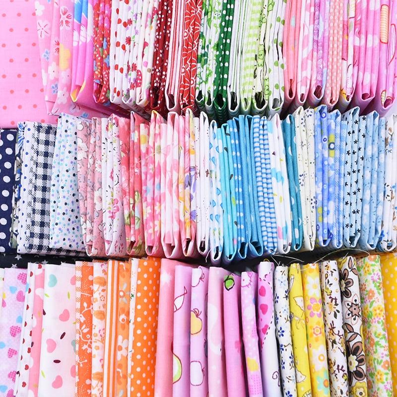 7pcs/set Dot Stripe Printed Patchwork Cotton Fabric Cloths For DIY Sewing Crafts Material Tilda Needlework Tissue Cloth 25*25cm