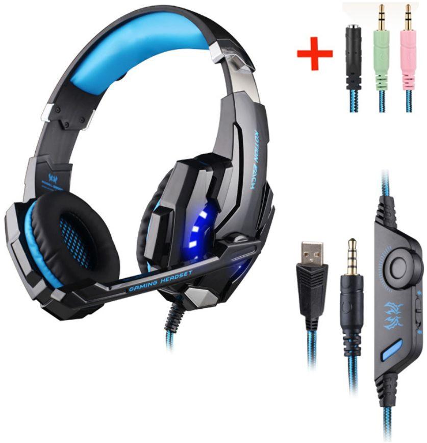 G9000 G2000-auriculares, para videojuegos, estéreo de graves profundos, con micrófono, para PS4, nuevo, xbox, PC, portátil, con línea de transferencia