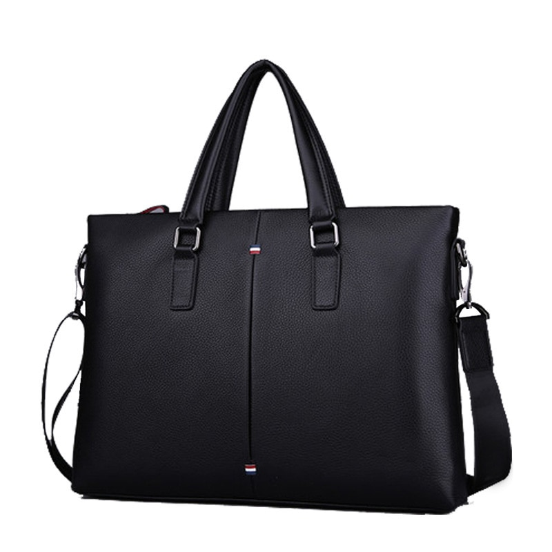 Men's first layer leather business computer bag
