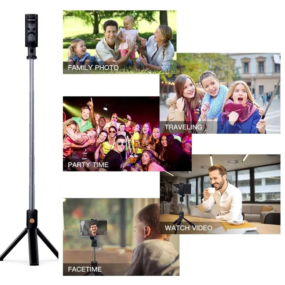 Selfie Stick Bluetooth Wireless Selfie Stick K07 Handheld Foldable Extendable 3 In 1 Mini With Tripod Shutter Remote Control enlarge