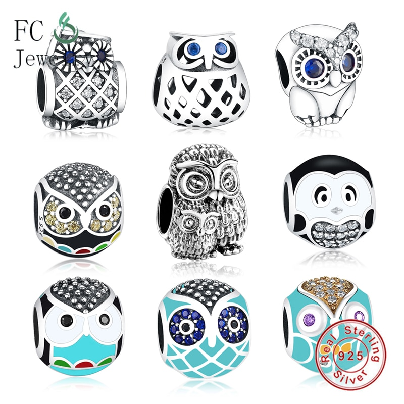2017 crystal radiant heart sterling silver beads fit authentic pandora charms bracelet silver 925 original for jewelry berloque Fit Pandora Charms Bracelet Silver 925 Original Owl Charm Beads 925 Silver DIY Jewelry Making Women Berloque 925 Silver