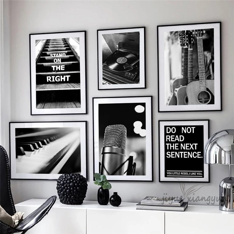 Vintage Room Decor Music Equipments Nordic Posters and Prints Wall Art Canvas Painting Wall Pictures for Living Room Decor