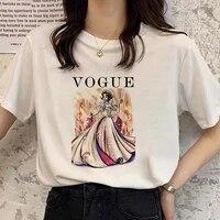 multiple styles sweet women tshirt princess pattern female teeshirt funny white round neck short sleeve summer top girl favorite