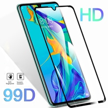 99D Protective Glass On For Huawei P20 Pro P30 P10 Lite Screen Protector Glass For Honor 10 20 Lite