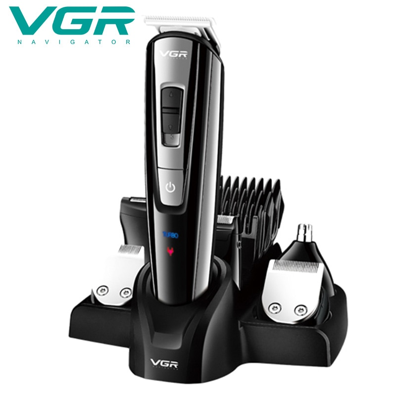 Hair Clipper MultiFunction Professional Set Rechargeable Shaver 6 In One Electric Oil Head LED Display enlarge