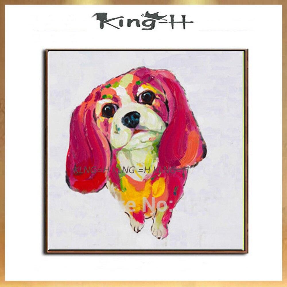Producto divertido y pinturas de animales... perro... precioso lienzo de pintura al...