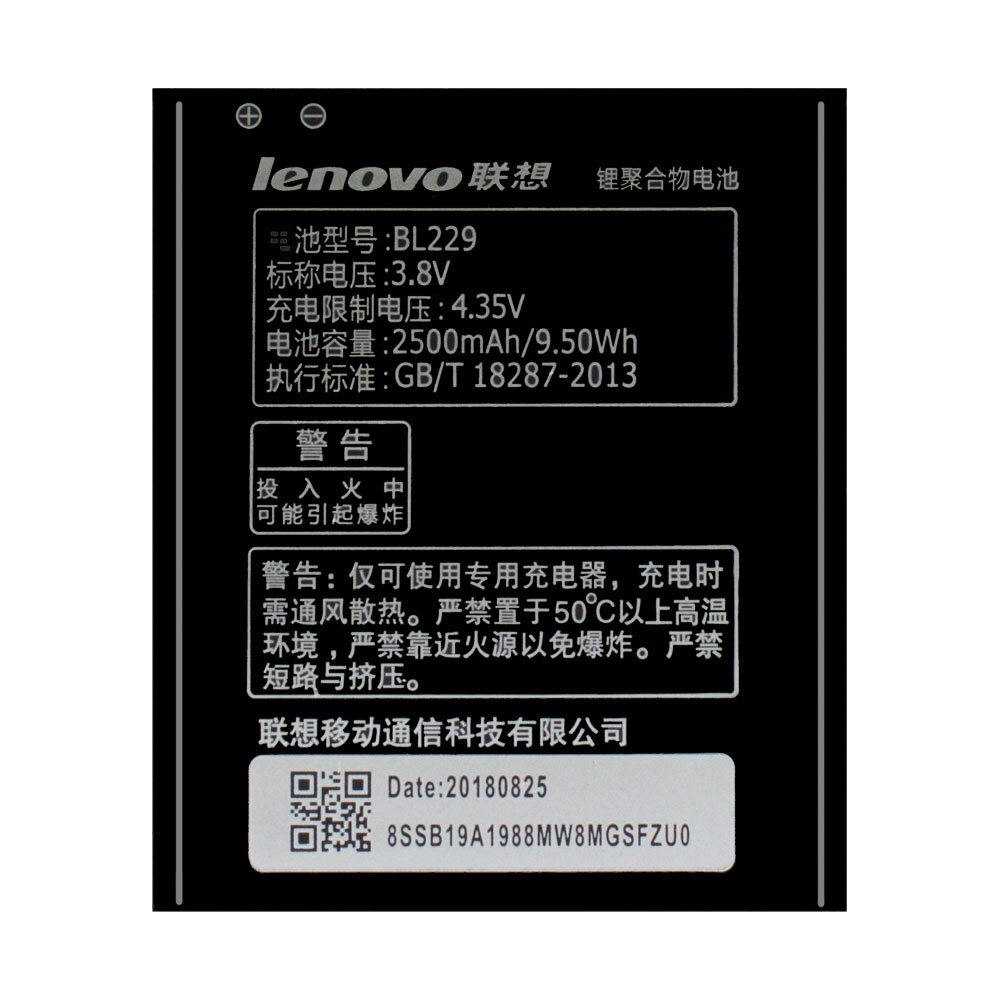 20pcs/lot Original Battery BL229 For Lenovo A8 A 8 A806 A808T 806 808T Phone Li-ion Rechargeable Batteria AKKU In Stock 2500mAh enlarge