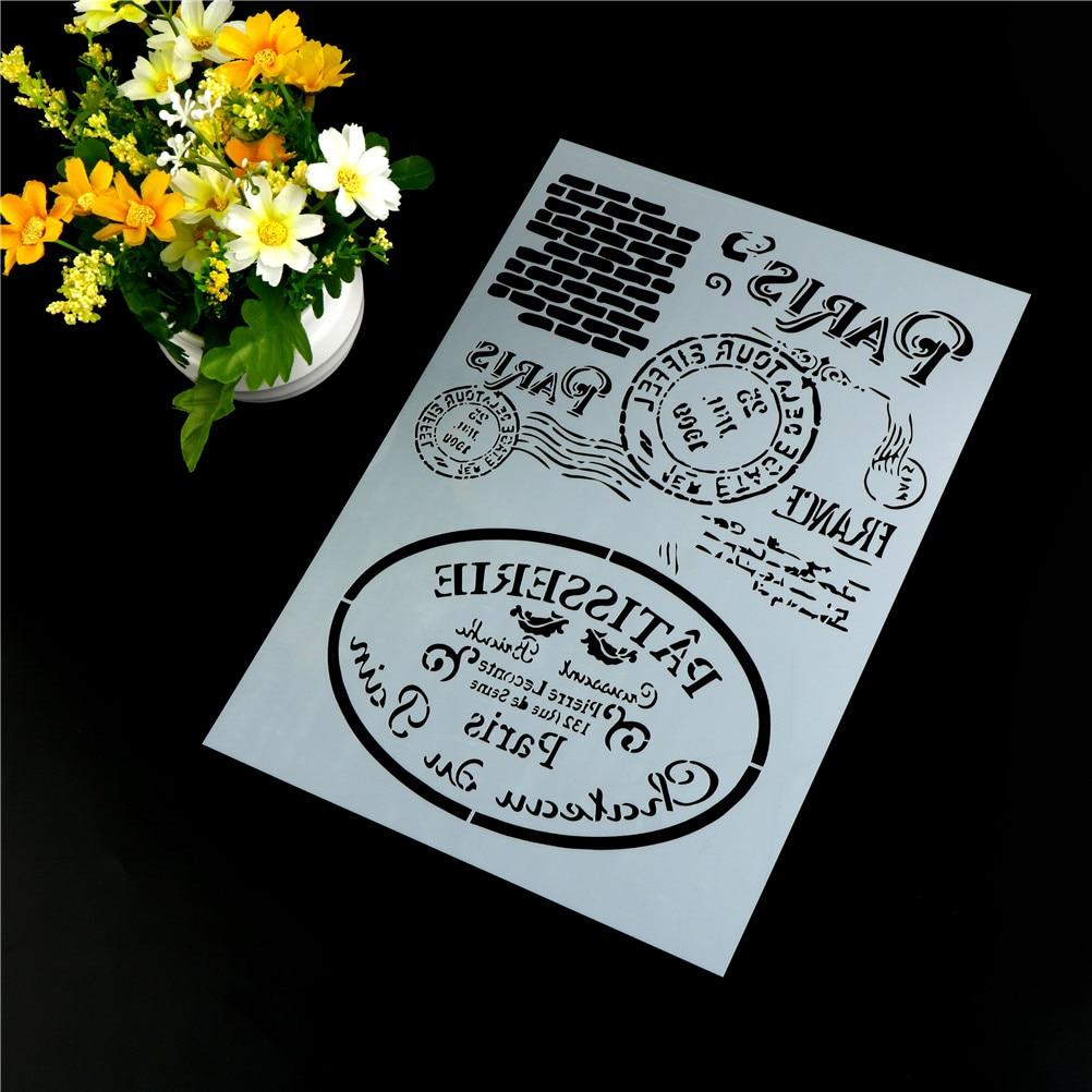 DIY Craft Layering Stencils For Walls Painting Scrapbooking Stamping Stamp Album Decorative Embossing Paper Card Retro Paris