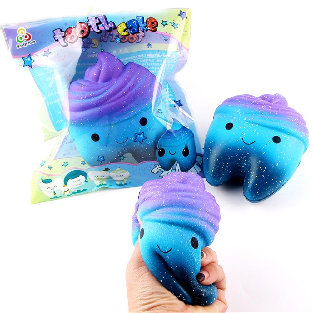11.8cm Funny Squishy Jumbo Cartoon Teeth Gags Practical Jokes Toys Squish Anti-stress Slow Rising Squeeze Slow Rebound Toys pu slow rebound jumbo squishy whale toys