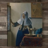 johannes young woman with a water pitcher canvas painting print living room home decoration modern wall art oil painting poster