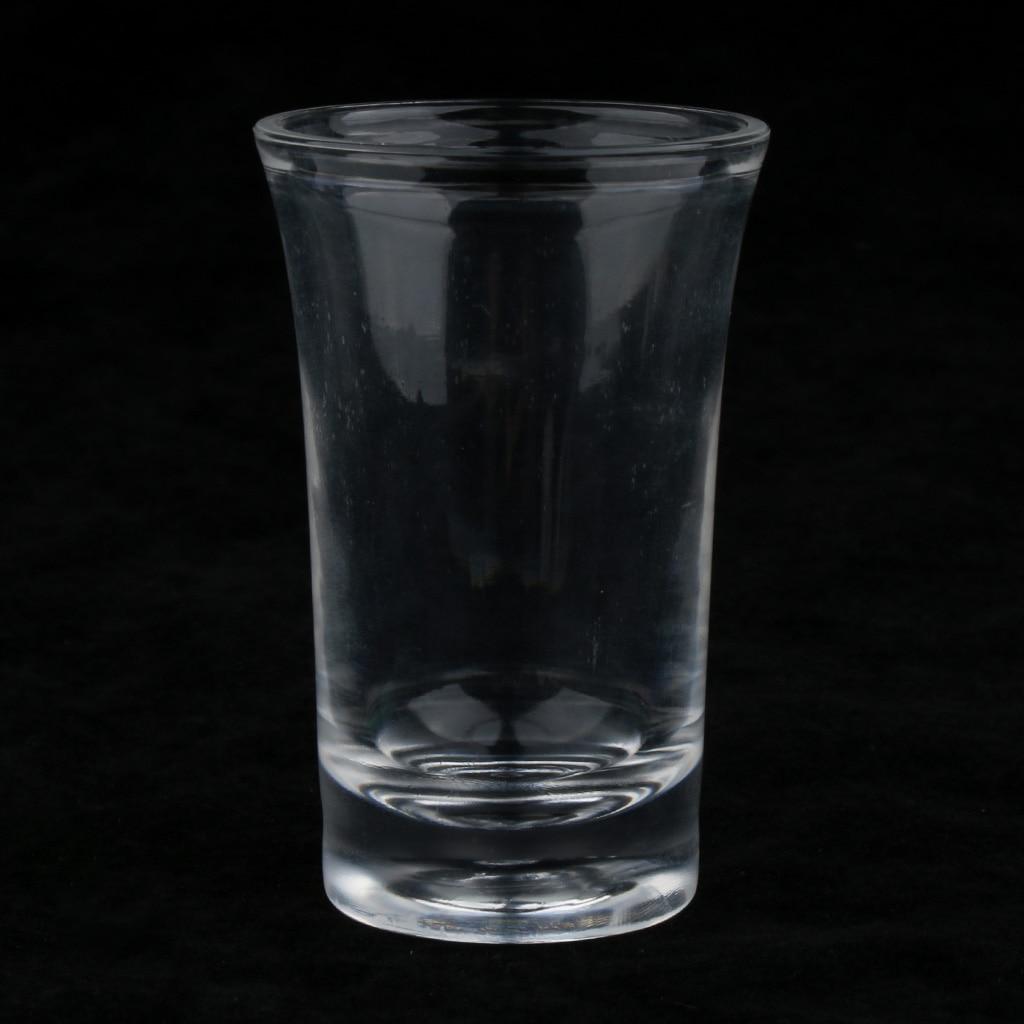 6 قطعة 35 مللي شوت زجاج & 6 حفرة حامل أكريليك واضح رف تخدم مجموعة صينية ، مع مقابض ، مستقرة وسهلة لإزالة