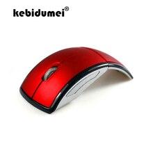 Kebidumei 2.4G ماوس لاسلكية قابلة للطي ماوس كمبيوتر صغير دفتر ملاحظات للسفر كتم ماوس USB استقبال للكمبيوتر المحمول