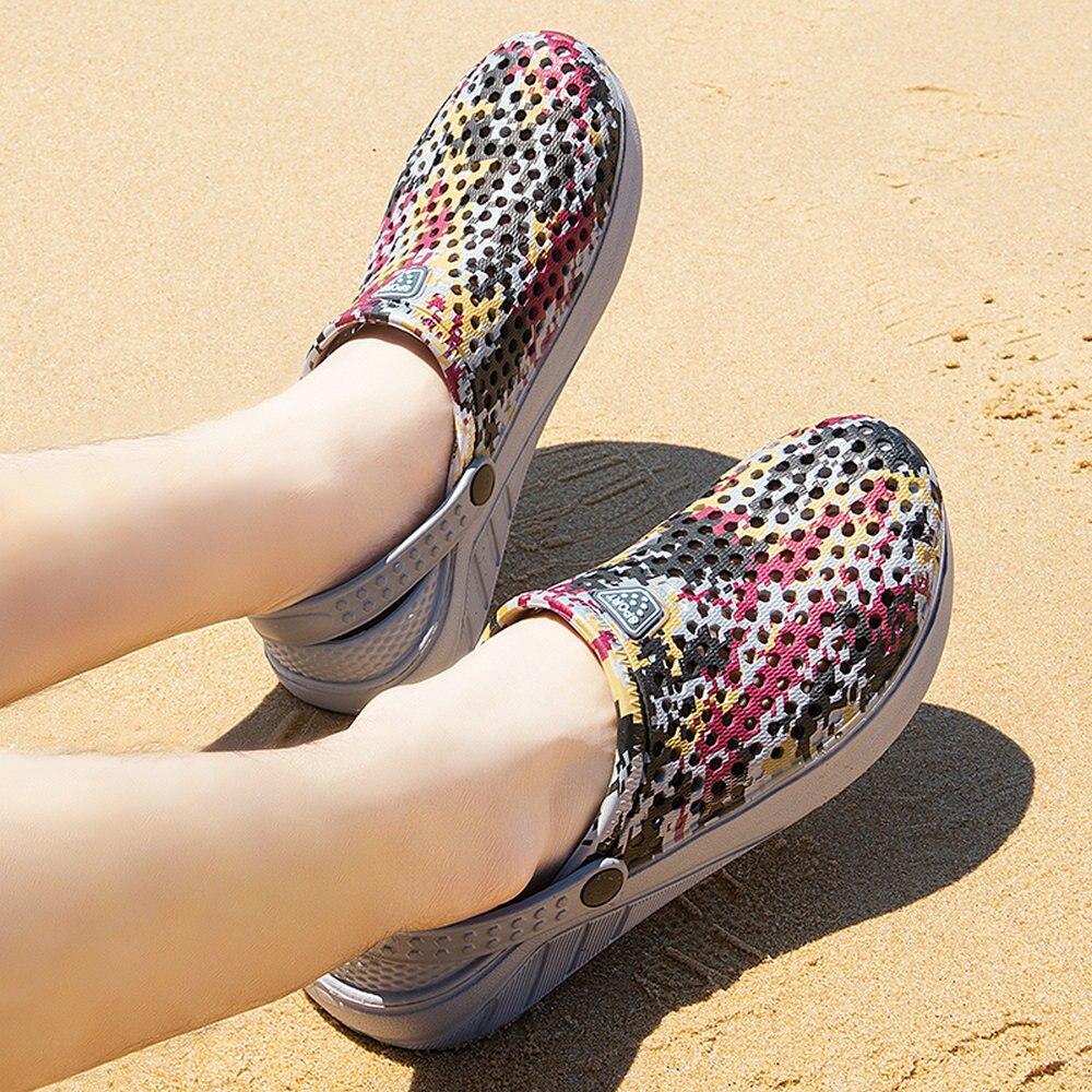 Newbeads Men's Crocks Crocse Sandals Beach Flat Camouflage Slippers Slip-On Summer Casual Outdoor Light Hole Shoes Garden Shoes