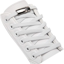 1 Pair / Elastic Shoelace Magnetic Metal lock Man And Woman General No Tie Shoelaces Fashion Sports