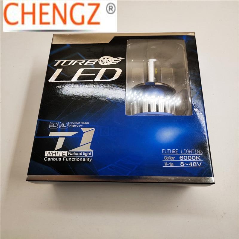 Бесплатная доставка 1 Набор Автомобильный светодиодный фары с can-bus T1 80 Вт H4 H7 H11 9005 9006 8000lm Гарантия 2 года в наличии
