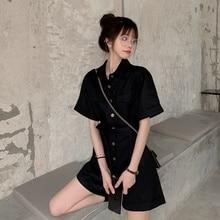 Real Shot Dress Cost-effective Summer Korean Women's Retro Hong Kong Style Tooling