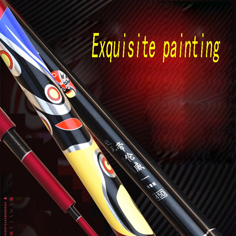 High Carbon Fishing Rod Facebook Chinese Style Big Five Sports Super Hard Adjustable Telescopic Fishing Rod Black Pit Fishing enlarge