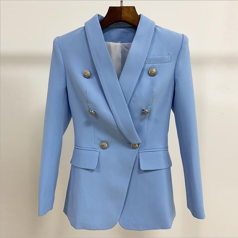 2019 nuevo traje profesional de oficina para mujer, chaqueta clásica de manga larga informal de moda con doble botonadura
