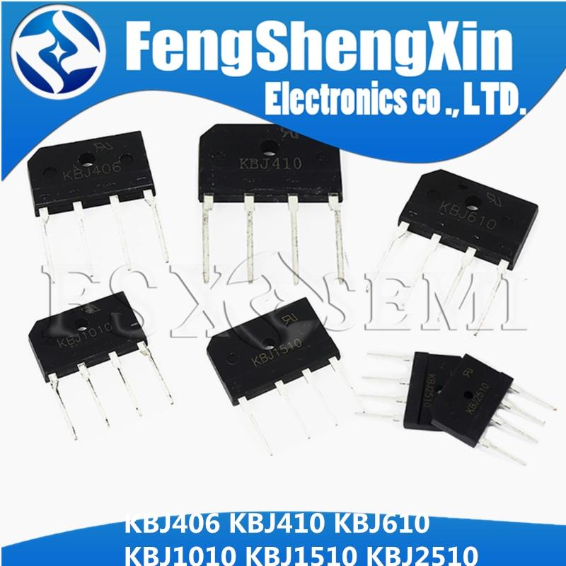 5 uds KBJ406 KBJ410 KBJ610 KBJ1010 KBJ1510 KBJ2510 DIP-4 puente rectificador