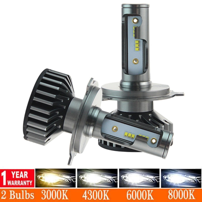 2pcs/pair Car Headlight  H7 LED H4 H1 H3 H8 H11 H13 H27 880 9004 9005 9006 9007 80W 12000LM Auto Headlamp 6500K Light Bulb
