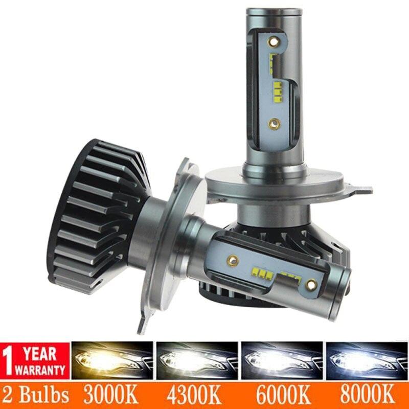 Faro de coche Muxall H4 LED H7 Canbus No Error H1 H3 H8 H11 9005 9006 80W 12000lm 6500K estilo faro de coche faros antiniebla bombillas