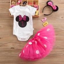 Il mio Bambino di Minnie del Vestito per la Ragazza Battesimo Abito 1st Festa di Compleanno Del Bambino di Usura Del Bambino Fantasia Costume Infantile Abiti Del Mouse 12M