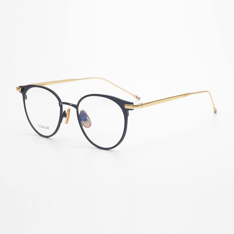 Thom-نظارات مستديرة بصرية للرجال والنساء ، إطارات من سبائك التيتانيوم ، ماركة New York ، TBX814 ، مع الصندوق الأصلي