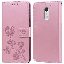 Luxury Leather Flip Book Case for Umi Umidigi Max / Super Rose Flower Wallet Stand Case Phone Cover
