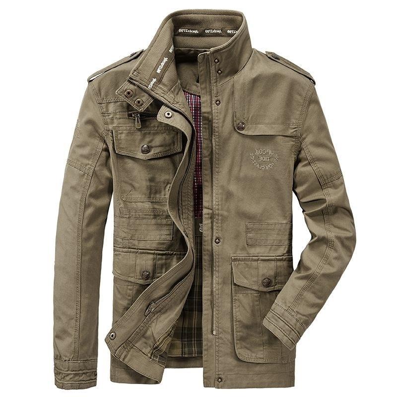 Oversize spring and autumn men's casual jaet cotton stand collar men's coat outdoor