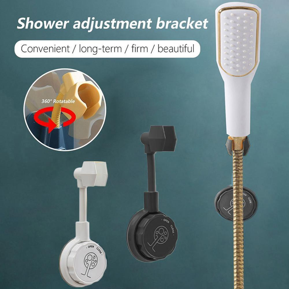 360° Punch-Free Universal Adjustable Shower Bracket Bathroom Shower Head Holder Nozzle Adjustment Adjusting Bracket Base Mount