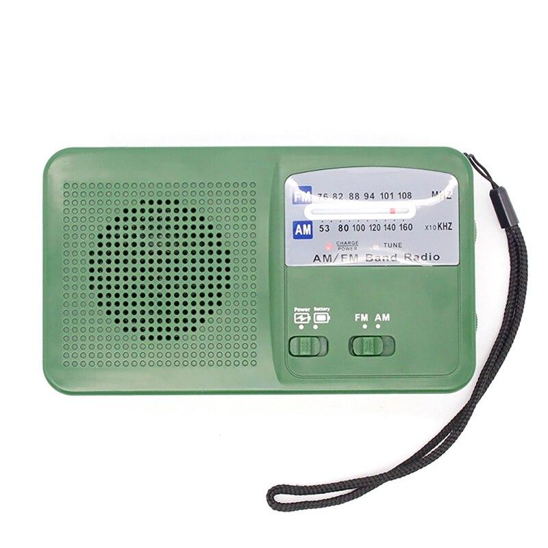Radio de emergencia AM FM, Radio Solar con manivela manual, con luz LED brillante y batería integrada para cargador de teléfono inteligente