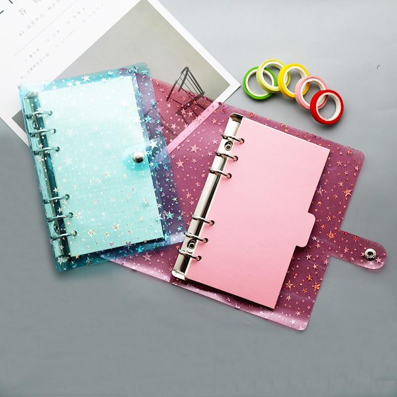 1PCS New Creative Gypsophila A7 Binder PVC Six-Hole Loose-Leaf Shell Hand Book Loose-Leaf Notebook Office Stationery Supplies