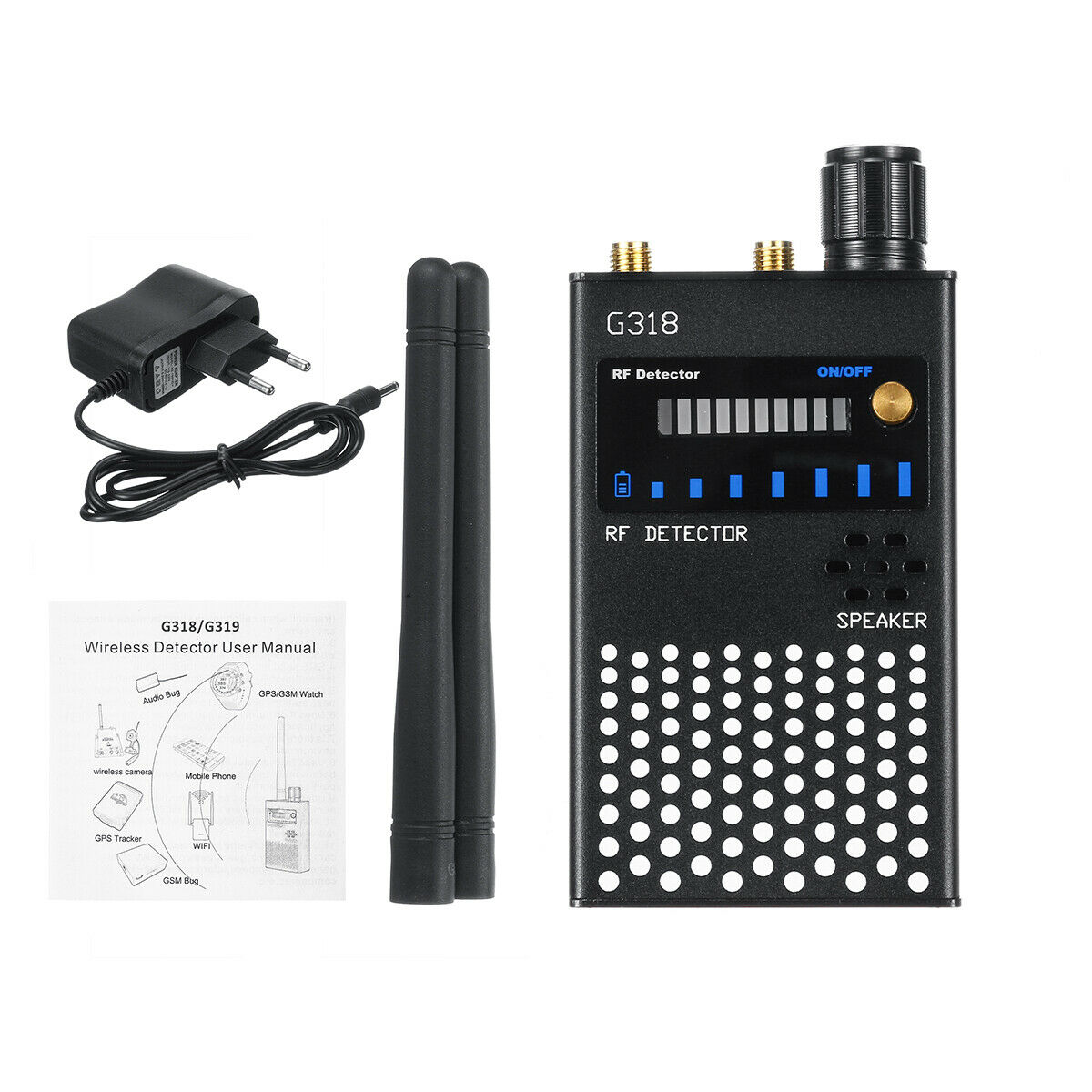 Anti Wiretapping RF Signal Detector Beep Sweeper with Stronger Anti-inteference GSM GPS Anti Spy Camera Detecto Device Scanner enlarge