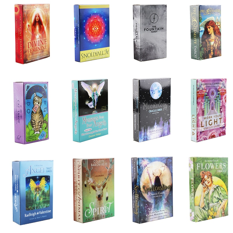 26 Styles The Light Tarot Desk Flowers Oracle Card Game English Version Divination Fate Board Game Cards Party Games Tarot Card astronaut the crew board game for the quest for planet nine english version poker card game