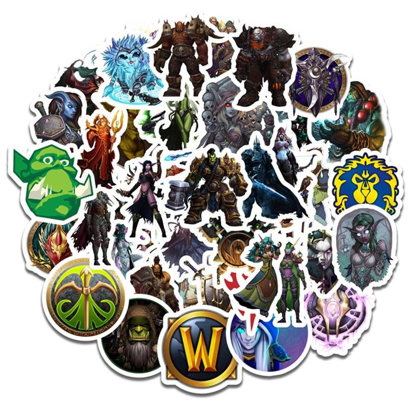 Monde de Warcraft autocollant Cosplay accessoires accessoire autocollant étanche dessin animé recueillir des autocollants